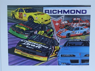 "1991 "" Pontiac Excitement "" Sam Bass Artist Proof Print 19.5""  X 25.5"" 1991 "" Pontiac Excitement "" Sam Bass Artist Proof Print 19.5""  X 25.5"""