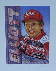 "1992 Bill Elliott Numbered Sam Bass Print 19.5"" X 15.5"" 1992 Bill Elliott Numbered Sam Bass Print 19.5"" X 15.5"""
