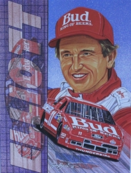 "1992 Bill Elliott Sam Bass Poster 15.5"" X 11.5"" 1992 Bill Elliott Sam Bass Poster 15.5"" X 11.5"""
