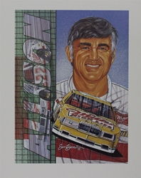 "1992 Bobby Allison Miller High Life Sam Bass Print 19.5"" X 15.5"" 1992 Bobby Allison Miller High Life Sam Bass Print 19.5"" X 15.5"""