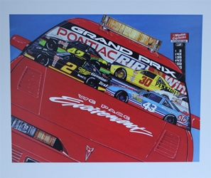 "1992 "" Pontiac Excitement "" Sam Bass Print 24"" X 29"" 1992 "" Pontiac Excitement "" Sam Bass Print 24"" X 29"""