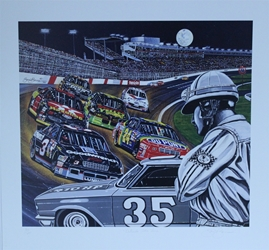 "1994 Charlotte Motor Speedway "" Outside The Fire!"" Sam Bass Numbered Print 25"" X 26"" 1994 Charlotte Motor Speedway "" Outside The Fire!"" Sam Bass Numbered Print 25"" X 26"""