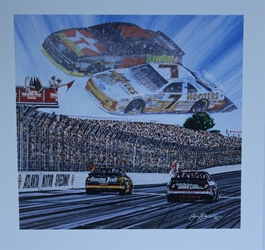 "1994 Winston Cup Atlanta Speedway "" Forever Champions ""Sam Bass Print 24"" X 24"" 1994 Winston Cup Atlanta Speedway "" Forever Champions ""Sam Bass Print 24"" X 24"""