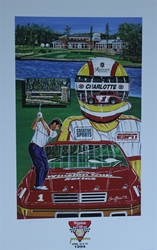 "1994 Winston Cup Pro-Am "" Driving Lessons "" Sam Bass Print 29"" X 18.5"" 1994 Winston Cup Pro-Am "" Driving Lessons "" Sam Bass Print 29"" X 18.5"""