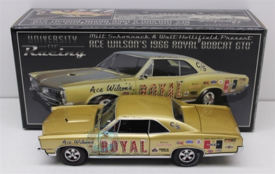 Ace Wilson Royal Bobcat GTO 1:24 University of Racing Nascar Diecast historical diecasts, diecast collectibles, nascar collectibles, nascar apparel, diecast cars, die-cast, racing collectibles,historical racing die cast