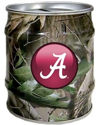 Alabama Crimson Tide Realtree Tin Money Bank University of Alabama Realtree Tin Money Bank