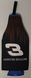 Austin Dillon # X3 Black and Red Bottle Coozie Austin Dillon nascar diecast, diecast collectibles, nascar collectibles, nascar apparel, diecast cars, die-cast, racing collectibles, nascar die cast, lionel nascar, lionel diecast, action diecast,racing collectibles, historical diecast,coozie,hugger