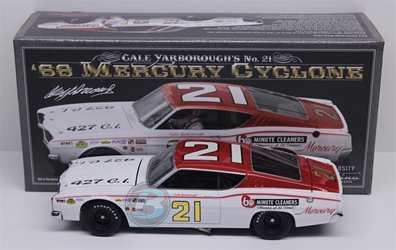 Cale Yarborough #21 60 Minute Cleaners 1968 Mercury Cyclone 1:24 University of Racing Nascar Diecast Cale Yarborough nascar diecast, diecast collectibles, nascar collectibles, nascar apparel, diecast cars, die-cast, racing collectibles, nascar die cast, lionel nascar, lionel diecast, action diecast, university of racing diecast, nhra diecast, nhra die cast, racing collectibles, historical diecast, nascar hat, nascar jacket, nascar shirt,historical racing die cast