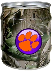 Clemson Tigers Realtree Tin Money Bank Clemson Tigers Realtree Tin Money Bank
