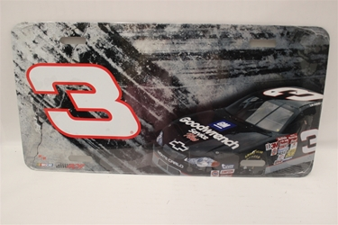 Dale Earnhardt #3 Good Wrench Burnout License Plate Dale Earnhardt,Burnout,License Plate,R and R Imports,R&R