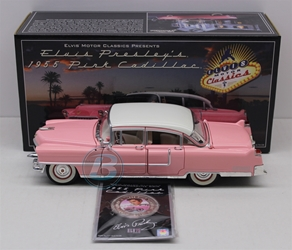 Elvis Presleys 1955 Pink Cadillac 1:24 w/ Collectible Coin University of Racing Diecast Elvis Pink Cadillac nascar diecast, diecast collectibles, nascar collectibles, nascar apparel, diecast cars, die-cast, racing collectibles, nascar die cast, lionel nascar, lionel diecast, action diecast, university of racing diecast, nhra diecast, nhra die cast, racing collectibles, historical diecast, nascar hat, nascar jacket, nascar shirt,historical racing die cast