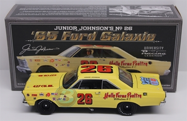 Junior Johnson #26 Holly Farms Poultry 1965 Ford Galaxie 1:24 University of Racing Nascar Diecast Junior Johnson nascar diecast, diecast collectibles, nascar collectibles, nascar apparel, diecast cars, die-cast, racing collectibles, nascar die cast, lionel nascar, lionel diecast, action diecast, university of racing diecast, nhra diecast, nhra die cast, racing collectibles, historical diecast, nascar hat, nascar jacket, nascar shirt,historical racing die cast