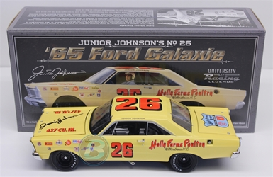 Junior Johnson Autographed #26 Holly Farms Poultry 1965 Ford Galaxie 1:24 University of Racing Nascar Diecast Junior Johnson nascar diecast, diecast collectibles, nascar collectibles, nascar apparel, diecast cars, die-cast, racing collectibles, nascar die cast, lionel nascar, lionel diecast, action diecast, university of racing diecast, nhra diecast, nhra die cast, racing collectibles, historical diecast, nascar hat, nascar jacket, nascar shirt,historical racing die cast