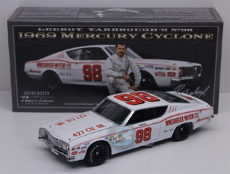 LeeRoy Yarbrough #98 Winebarger Motor Co. 1969 Mercury Cyclone 1:24 University of Racing Nascar Diecast LeeRoy Yarbrough nascar diecast, diecast collectibles, nascar collectibles, nascar apparel, diecast cars, die-cast, racing collectibles, nascar die cast, lionel nascar, lionel diecast, action diecast, university of racing diecast, nhra diecast, nhra die cast, racing collectibles, historical diecast, nascar hat, nascar jacket, nascar shirt,historical racing die cast