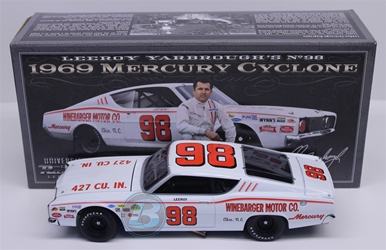 LeeRoy Yarbrough Autographed by Junior Johnson #98 Winebarger Motor Co. 1969 Mercury Cyclone 1:24 University of Racing Nascar Diecast LeeRoy Yarbrough nascar diecast, diecast collectibles, nascar collectibles, nascar apparel, diecast cars, die-cast, racing collectibles, nascar die cast, lionel nascar, lionel diecast, action diecast, university of racing diecast, nhra diecast, nhra die cast, racing collectibles, historical diecast, nascar hat, nascar jacket, nascar shirt,historical racing die cast