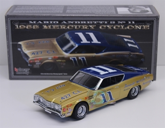 Mario Andretti #11 Bunnell Motor Co. 1968 Mercury Cyclone 1:24 University of Racing Nascar Diecast Mario Andretti nascar diecast, diecast collectibles, nascar collectibles, nascar apparel, diecast cars, die-cast, racing collectibles, nascar die cast, lionel nascar, lionel diecast, action diecast, university of racing diecast, nhra diecast, nhra die cast, racing collectibles, historical diecast, nascar hat, nascar jacket, nascar shirt,historical racing die cast