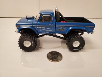 Midwest Four Wheel Drive & Performance Center 1:43 1974 Ford F250 Kings of Crunch Monster Truck Midwest Four Wheel Drive & Performance Center, Monster Truck, 1:24 Scale, Kings of Crunch