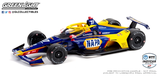*Preorder* Alexander Rossi / Andretti Autosport #27 NAPA Auto Parts 1:18 2021 NTT IndyCar Series Alexander Rossi, 2021, 1:18, diecast, greenlight, indy
