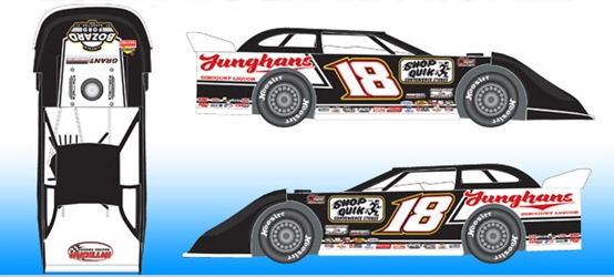 *Preorder* Chase Junghans 2021 #18 Black & White 1:64 Dirt Late Model Diecast Chase Junghans, 2021 Dirt Late Model Diecast, 1:64 Scale Diecast, pre order diecast