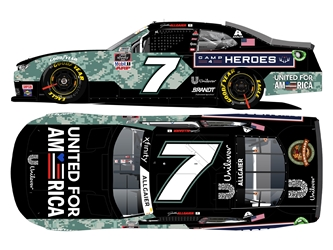 *Preorder* Justin Allgaier Autographed 2021 United for America / Camp4Heroes 1:24 Nascar Diecast Justin Allgaier, Nascar Diecast,2021 Nascar Diecast,1:24 Scale Diecast,pre order diecast