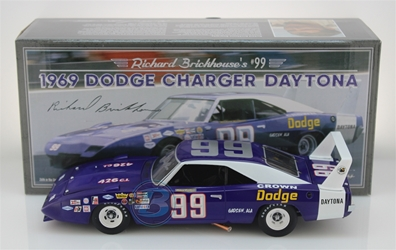 Richard Brickhouse Autographed #99 Crown Dodge 1969 Dodge Daytona 1:24 University of Racing Nascar Diecast Richard Brickhouse nascar diecast, diecast collectibles, nascar collectibles, nascar apparel, diecast cars, die-cast, racing collectibles, nascar die cast, lionel nascar, lionel diecast, action diecast, university of racing diecast, nhra diecast, nhra die cast, racing collectibles, historical diecast, nascar hat, nascar jacket, nascar shirt,historical racing die cast