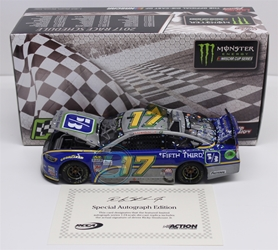 Ricky Stenhouse Jr Autographed 2017 Fifth Third/Talladega/First Cup Win Raw 1:24 Nascar Diecast Ricky Stenhouse Jr Nascar Diecast,2017 Nascar Diecast,1:24 Scale Diecast,Fifth Third pre order diecast