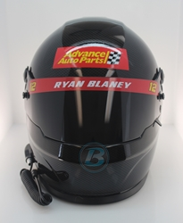 Ryan Blaney 2020 Advance Auto Parts Full Size Replica Helmet Ryan Blaney, Helmet, NASCAR, BrandArt, Full Size Helmet, Replica Helmet