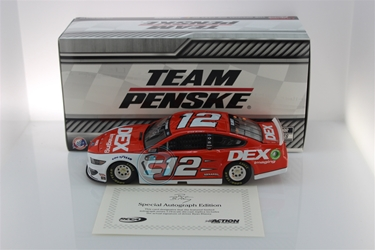 Ryan Blaney Autographed 2020 DEX Imaging 1:24 Nascar Diecast Ryan Blaney Nascar Diecast,2020 Nascar Diecast,1:24 Scale Diecast,pre order diecast