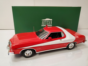 Starsky and Hutch (1975-79 Tv Series) 1:18 Artisan Collection - 1976 Ford Gran Torino Starsky and Hutch, TV Diecast, 1:18 Scale, 1976 Ford Gran Torino