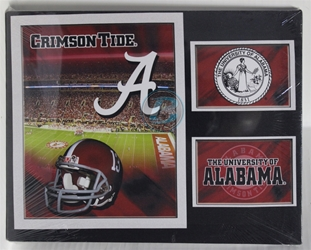 "University of Alabama (2) ""football field"" Canvas 11"" x 14"" Wall Hanging collectible canvas, ncaa licensed, officially licensed, collegiate collectible, university of"