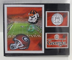 "University of Georgia (2) Field & Seal Canvas 11"" x 14"" Wall Hanging collectible canvas, ncaa licensed, officially licensed, collegiate collectible, university of"