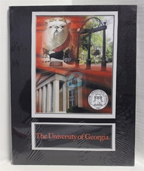 "University of Georgia (4) Campus & Bulldog Canvas 11"" x 14"" Wall Hanging collectible canvas, ncaa licensed, officially licensed, collegiate collectible, university of"